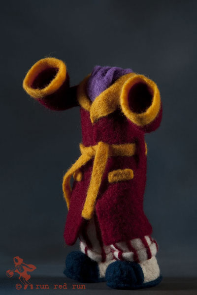 Run Red Run Needle Felted Invisible Man