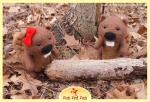 Run Red Run Needle Felted Beavers