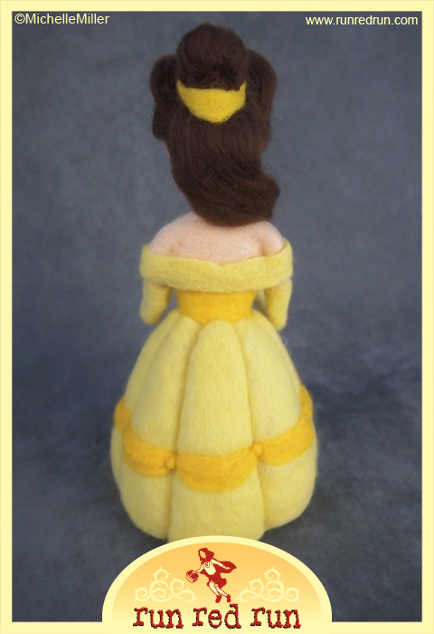 Run Red Run Needle Felted Beauty and the Beast