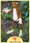 Run Red Run Needle Felted Bigfoot Untold Tales of Bigfoot feltie