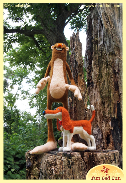 Run Red Run Needle Felted Scout Bigfoot Untold Tales of Bigfoot