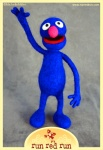 Needle Felted Grover