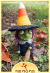 Run Red Run Needle Felted Halloween Wtich