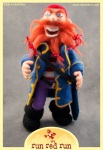Run Red Run Needle Felted Pirate