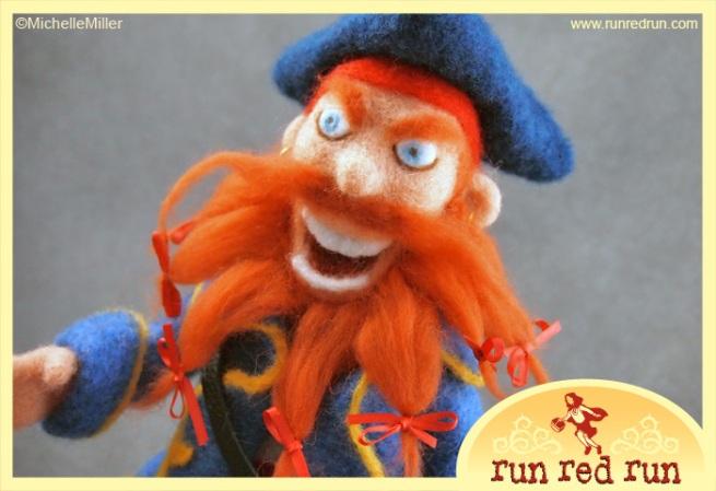 Run Red Run Needle Felted Pirate
