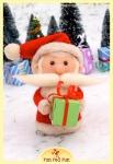 Run Red Run Needle Felted Santa Claus