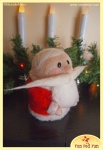 Run Red Run Needle Felted Santa without Hat