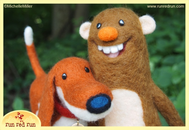 Run Red Run Needle Felted Scout and Bigfoot Untold Tales of Bigfoot