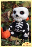 Run Red Run Needle Felted Skeleton