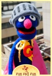 Run Red Run Needle Felted Super Grover