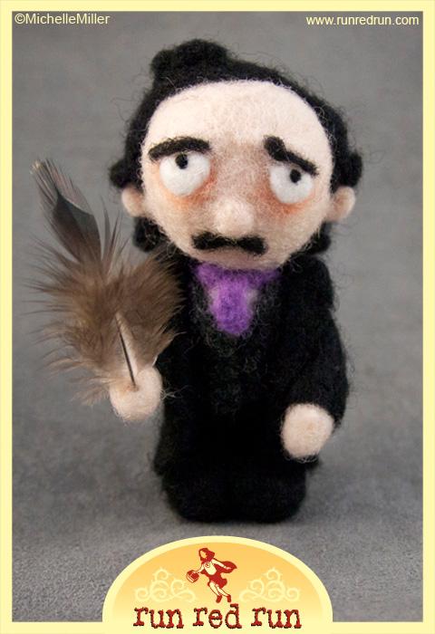 Run Red Run Needle Felted Edgar Allan Poe