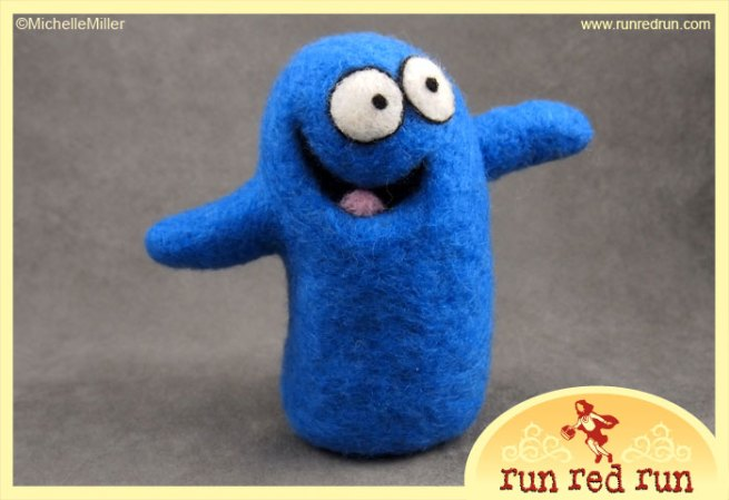 Run Red Run Needle Felt Bloo Foster's Home for Imaginary Friends doll