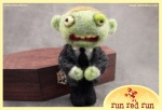 Run Red Run Needle Felted Zombie