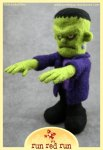 Run Red Run Needle Felted Frankenstein's Monster