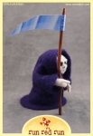 Run Red Run Needle Felted Grim Reaper Death