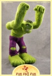 Run Red Run Needle Felted Hulk