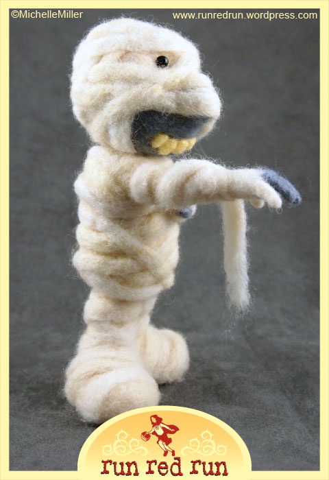 Run Red Run Needle Felted Mummy