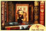 Run Red Run Edgar Allan Poe Needle Felt Bookcase