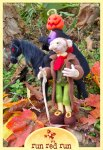 runredrun needle felted Sleepy Hollow figures