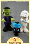 runredrun needle felted monsters