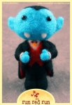 Run Red Run Needle Felted Vampire