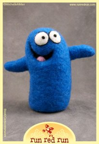 Run Red Run Needle Felted Bloo