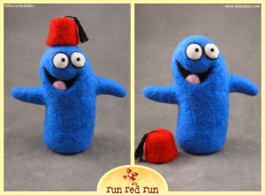 Run Red Run Needle Felted Bloo Fez