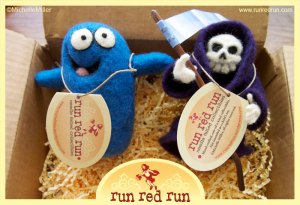Run Red Run Needle Felted Bloo Grim Reaper sold