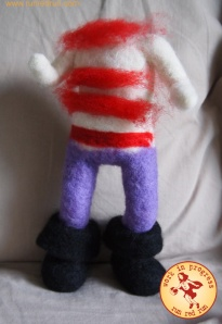 Run Red Run Needle Felt work in progress pirate