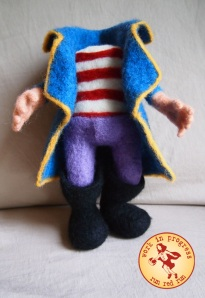 Run Red Run Needle Felt Pirate wip Needle Felted Needle Felting