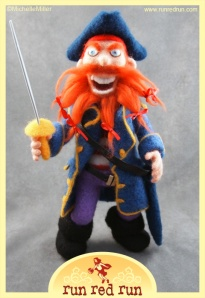 Run Red Run Needle Felted Pirate Yo Ho