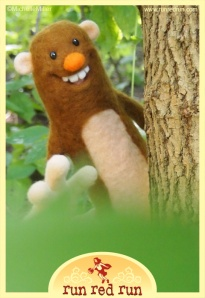 Run Red Run Needle Felted Bigfoot Untold Tales of Bigfoot