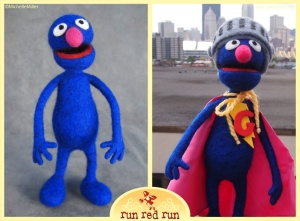 Run Red Run Needle Felted Grover Super Grover