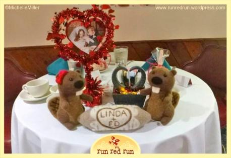Run Red Run Needle Felted Beavers Centerpiece