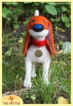 Run Red Run Needle Felted Scout