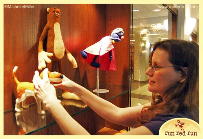 Run Red Run Needle Felt Library Exhibit