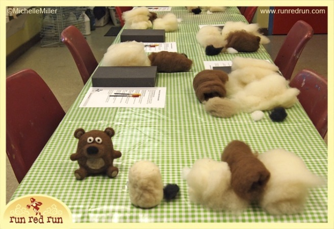 Run Red Run Needle Felted Bear Class