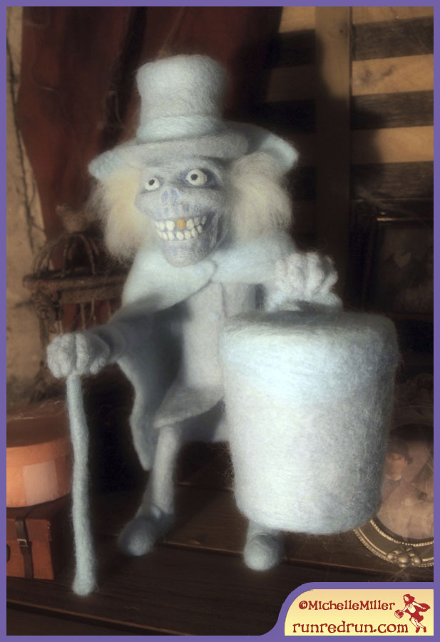 Run Red Run Needle Felted Hatbox Ghost