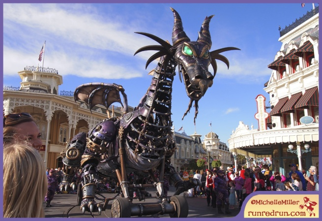 Run Red Run Walt Disney World Main Street Parade Dragon