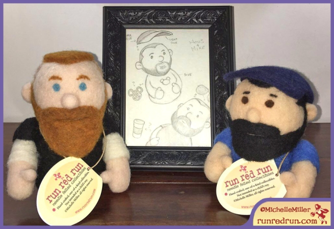 Run Red Run Needle Felted Mike and Hous Phoenixterdam design sketch Vince Dorse