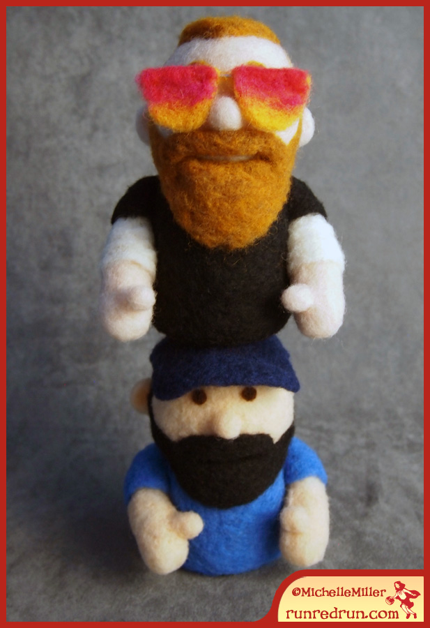 Run Red Run Needle Felted Hous and Mike Phoenixterdam