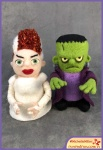 Run Red Run Needle Felted Frankenstein and Bride